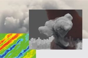 A plume of cloud pollution