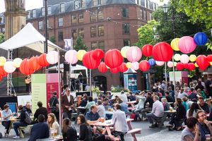 An exterior photo of Festival Square at MIF
